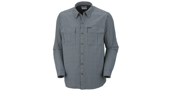 Columbia Men's Silver LS Plaid Shirt blade